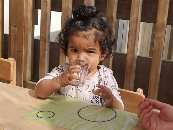 Bays Montessori Under 2 Years Layla Drinking